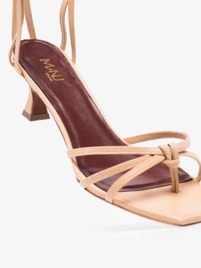 neutral Lace 50 leather sandals