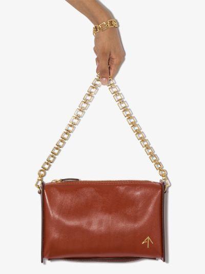 red Carmen leather cross body bag