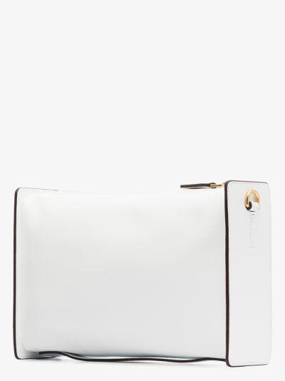 white Carmen leather cross body bag