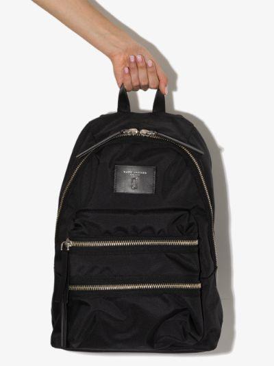 black biker mini backpack