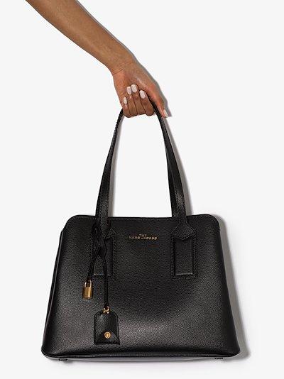 Black Editor 38 leather shoulder bag