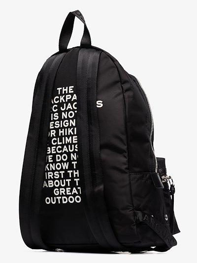 Black large logo backpack