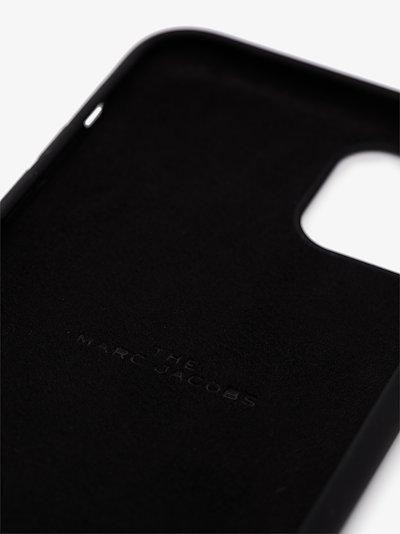 black logo print iPhone 11 case