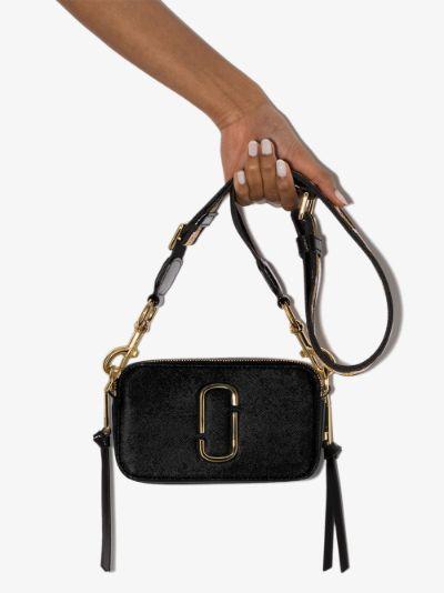 Black Snapshot leather cross body bag