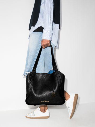 black The Director leather shoulder bag