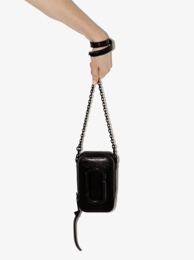 black The Hot Shot leather mini bag