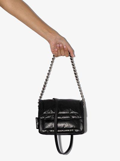 black The Mini Pillow leather shoulder bag