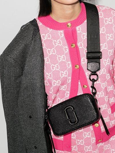 Black The Snapshot leather cross body bag