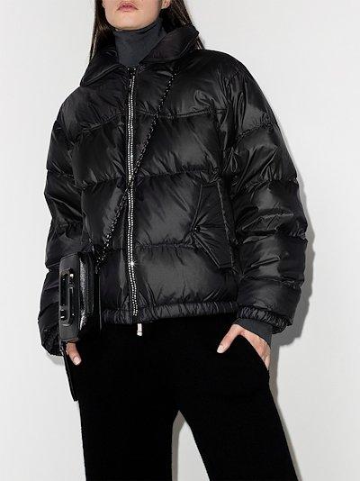 crystal trim puffer jacket
