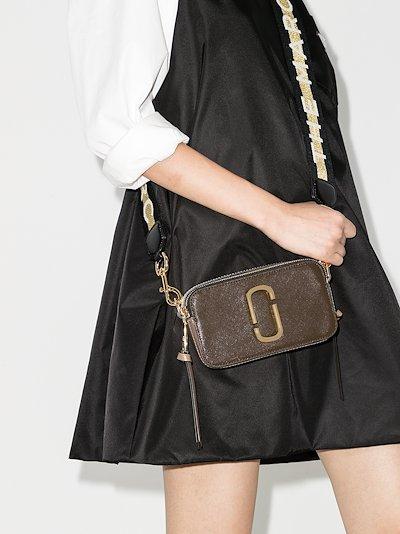 khaki Snapshot leather cross body bag