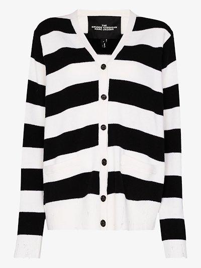 striped long-sleeve cardigan