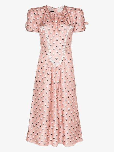 The '40s icing print silk dress