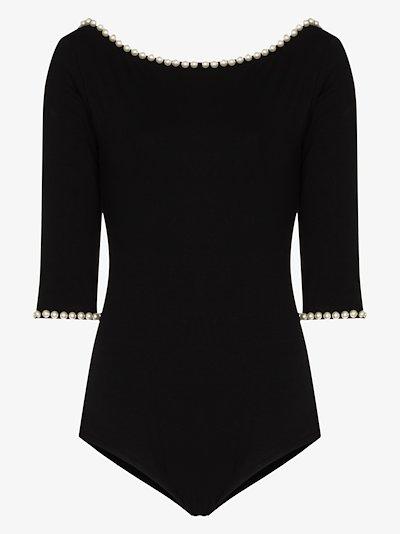 X Capezio embellished scoop back bodysuit