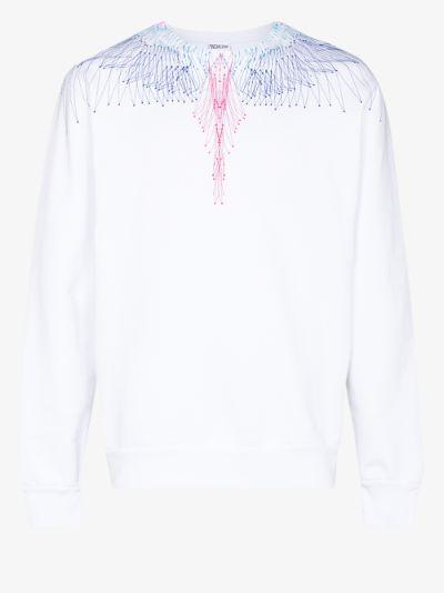 Bezier Wings print long sleeve T-shirt