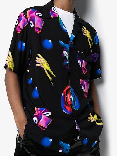 Crazy Faces bowling shirt