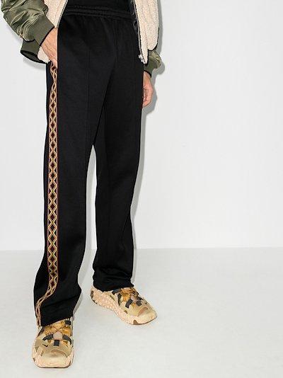 Folk tape panel track pants