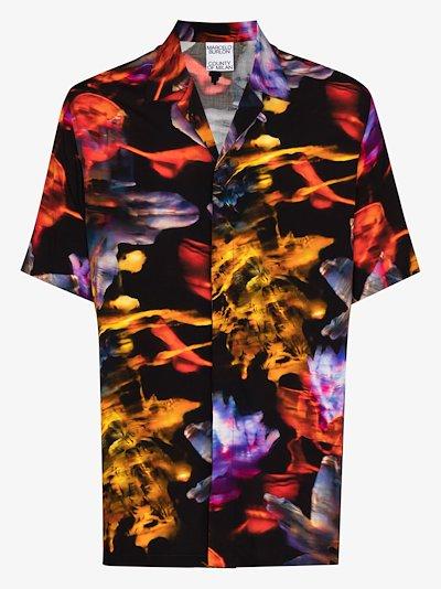 graphic Flowers print shirt