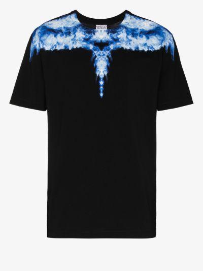 Smoke wings print cotton T-shirt
