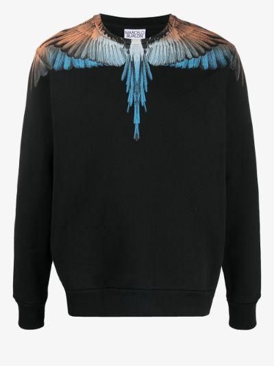 Wings print cotton sweatshirt