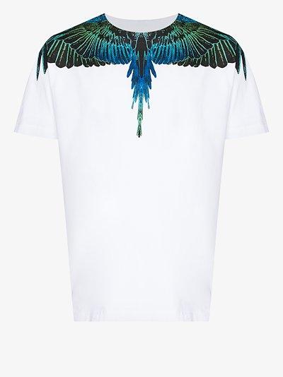 wings print cotton T-shirt