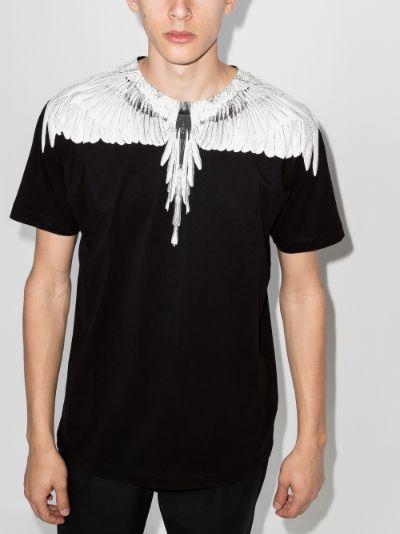 Wings print crew neck T-shirt