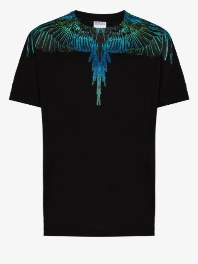 Wings-print crew neck T-shirt