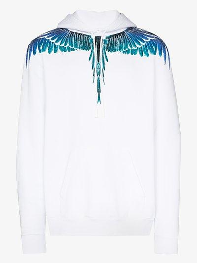 Wings print hoodie