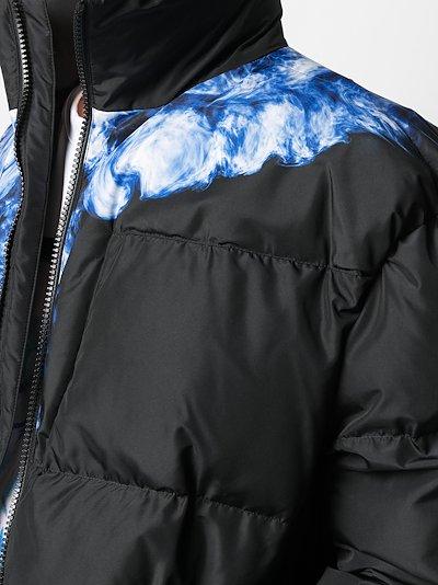 Wings-print padded jacket
