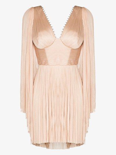 Alma Crystal silk mini dress