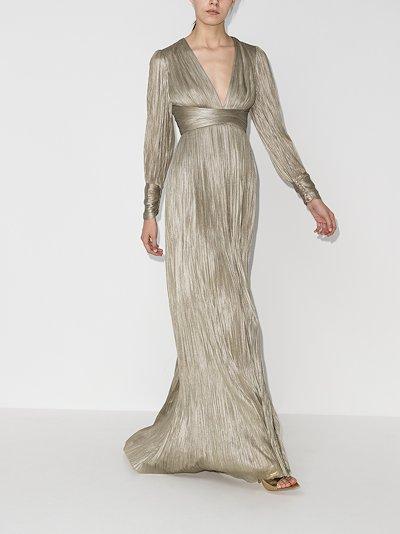 Smaranda pleated silk gown