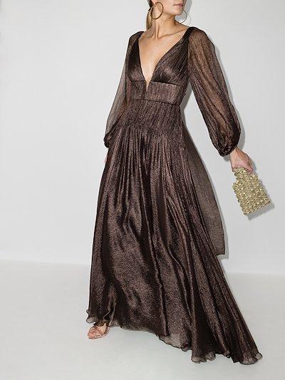 Zeena silk gown