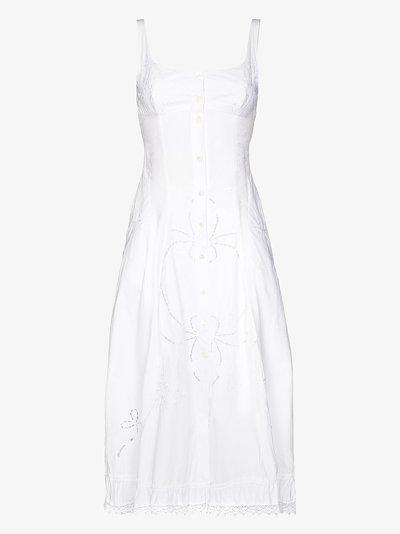 Bergere embroidered midi dress