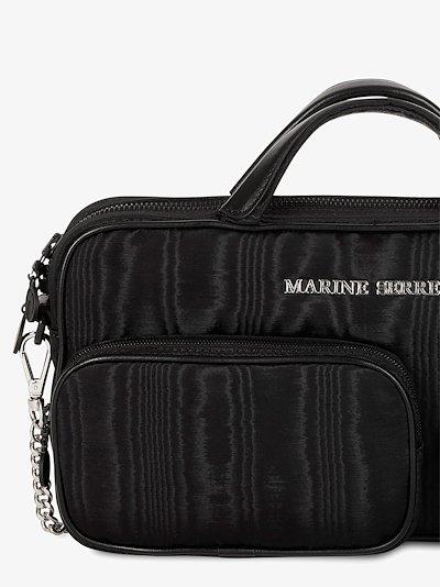 Black Three Pocket Shoulder Bag