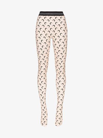 crescent moon print leggings