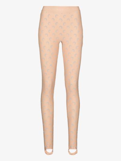 Fuseaux crescent moon print stirrup leggings