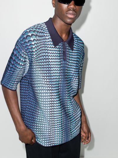 Moonfish jacquard polo shirt