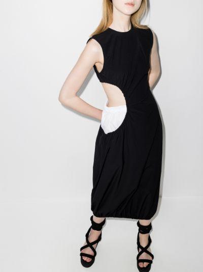 The Boxer cutout midi dress