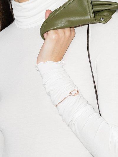 14K rose gold rolo chain 6 inch bracelet