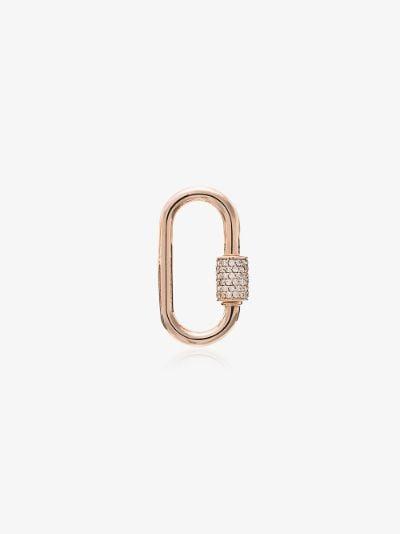14K Rose Gold Stoned baby Diamond Lock Charm