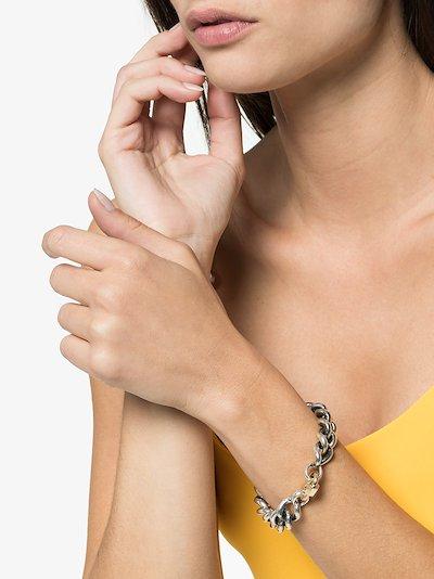 14K white gold Mega Curb chain 7 inch bracelet
