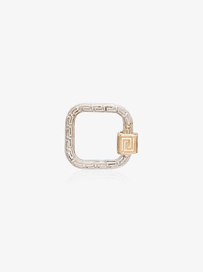 14K white gold regular meander lock charm