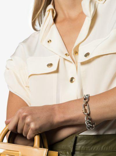14K White Gold Regular Twisted Series lock charm