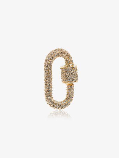 14K yellow gold diamond lock charm