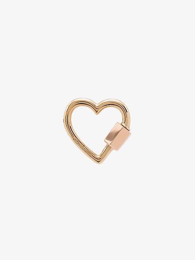14K yellow gold regular heart lock charm