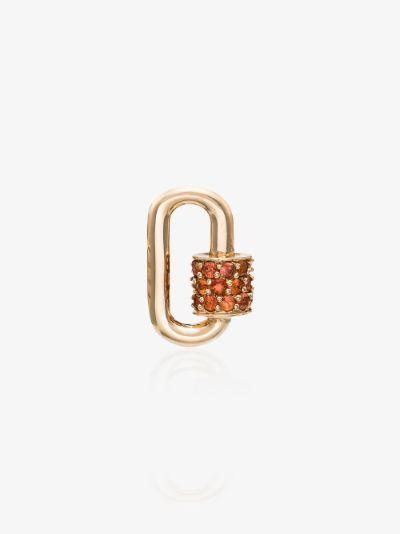 14K Yellow Gold Sapphire lock charm