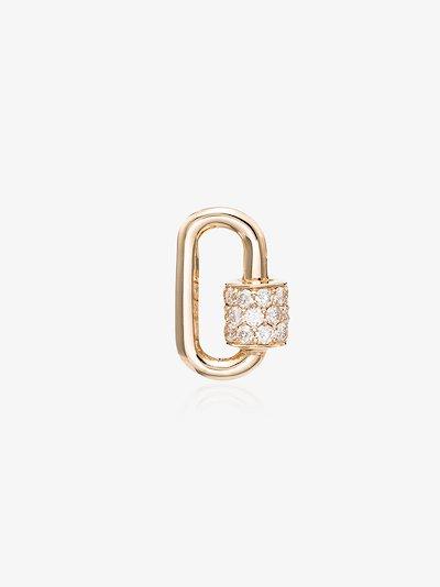14K yellow gold Stoned Chubby Baby diamond lock charm