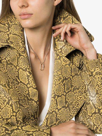 14K Yellow Gold Stoned medium Sapphire lock Charm