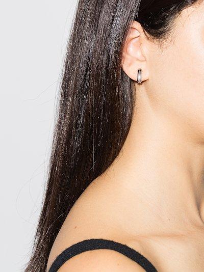18K white gold Base earrings