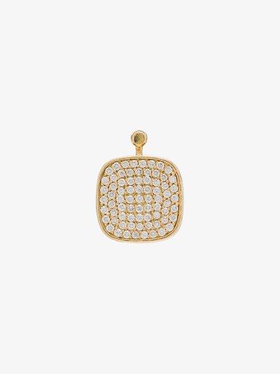 18K yellow gold diamond earring charm