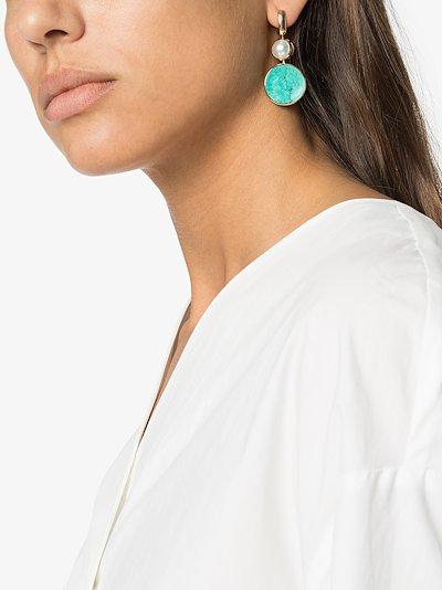 18K yellow gold pearl earring charm